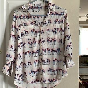 Express portofino button down shirt size small